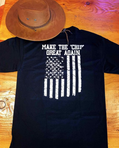 make the chip great again tshirt - Black